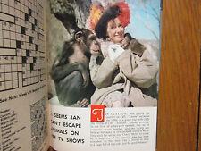 1966 NY Journal American TV Magaz(JAN CLAYTON/PAUL ANKA/LUCILLE BALL/ZERO MOSTEL