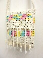 NC 04 HANDMADE KNIT BAG SHOULDER CROCHET HANDICRAFT WEAVE M CROSSBODY HOBO SLING