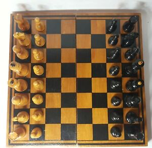Tournament vintage chess set. Weighted chess pieces. Made in USSR .