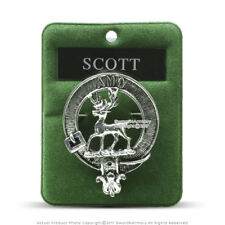 Clan Scott Scottish Crest Badge Brooch Pin for Clothes Costume Gift Souvenir