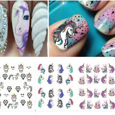 5 Sheet Unicorn Nail Art Transfer Stickers Water Decals Manicure Decoration Tool