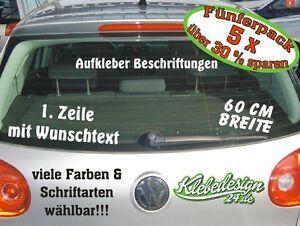 5x 1 Zeile - 60cm - Aufkleber Beschriftung Werbung Sticker Werbebeschriftung KFZ