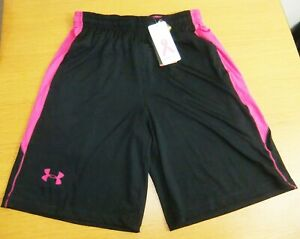 """NWT UNDER ARMOUR """"Power in Pink"""" Heat Gear Loose Fit Shorts Size M"""