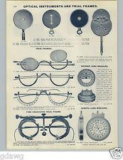 1905 PAPER AD Reisner Geneva Lens Measure Eye Glass Glasses Optician Oculist