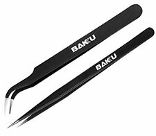 New 2 in 1 High Quality Tweezers , Brand BAKU BK ,Made of Stainless Steel