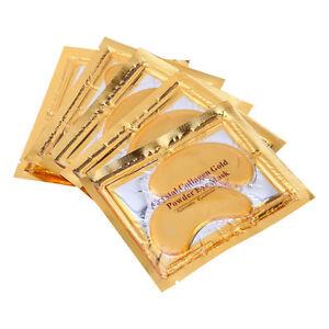 GOLD Collagen EYE MASKS - Moisturising Anti Ageing / Wrinkle Dark Bags Treatment