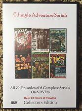6 Complete Jungle Adventure Serials -  Cliffhanger Movies