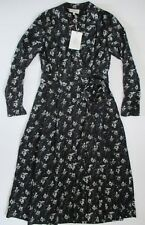 LAURA ASHLEY ARCHIVE WOMENS DRESS SIZE 10 BLACK FLORAL CALF LENGTH SLEEVES NEW