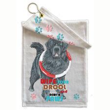 "Newfoundland Newfie Dog Paw-Wipe Towel 11"" x 18"" Grommet with Hook"