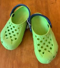 HOLEY SOLES Shoes 12 13 Clogs CRICKET Unisex Molded Rubber Strap Kids Crocs NWT