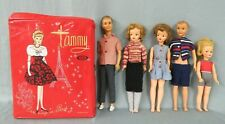 5-Vintage Ideal Toy Corp Dolls Tammy with her Family plus Casease