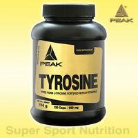 (10,42€/100g) PEAK Tyrosin Aminosäure L-Tyrosin 120 Kapseln à 950mg + BONUS