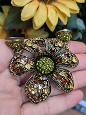Heidi Daus Multi Color Crystal Flower Magnetic Pendant Attachment for Necklace