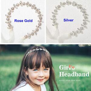 Crystal Floral Child's First Communion Christening Flower Girl Tiara Headpiece