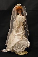 Franklin Heirloom Doll! Gibson Girl Bride! Red Head!