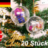 20X Acrylkugeln Weihnachtskugeln Weihnachtsbaumschmuck Christbaumkugeln Kugel DE