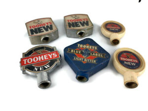 6 used old condition Beer Tap Tops tooheys new
