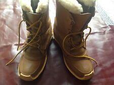 Sorel Kaufman Chugalug Cheyenne Rawhide Boots with 75% Wool Liners Men's Size 10