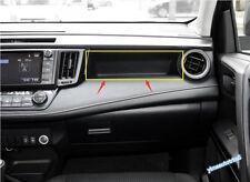 For Toyota RAV4 Rav 4 2016 - 2018 Chrome Instrument Panel Storage Box Lid Cover