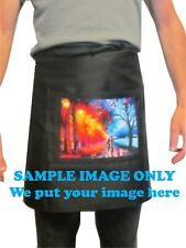 Customised/Personalised Apron with your full colour image Polyester Cotton
