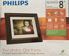 Philips 8 inch Digital Photo Frame Mahogany New In Box