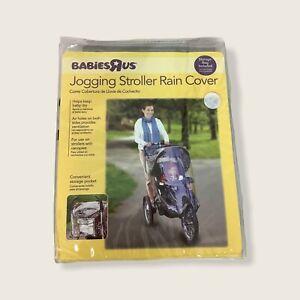 Babies R Us Jogging Stroller Rain Clear Cover Storage Pocket Ventilation Airhole