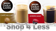 Nescafe Dolce Gusto: 2 Boxes Americano and Cafe Au Lait coffee pods