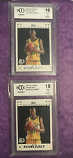 2007-08 Topps Kevin Durant Rookie Set #2 BCCG 10 Lot Of 2