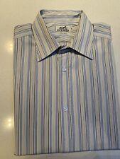 """Hermes Paris Men's """" Clou De Selle""""  Sz 40/ 15 3/4 Long Sleeve Cotton Shirt"""