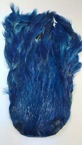 "LG INDIA CAPE    "" Hen Neck Cape ""  DK.  BLUE      Fly Tying Wet Flies"