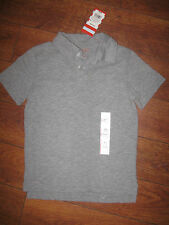 Cat& Jack Sz Xs 4/5/6*T Boys Girls Kids Gray Polo Shirt Solid School Uniform