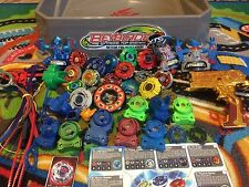Huge Lot 54+ BEYBLADES METEOR FIRE Stadium Beyblades + Launchers & Ripcords W@W