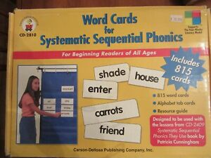 Word Cards Systematic Sequential Phonics CD-2810 Homeschooling Beginner Reading