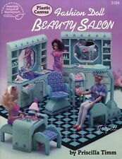 Fashion Doll Beauty Salon ~ fits Barbie dolls, plastic canvas pattern booklet