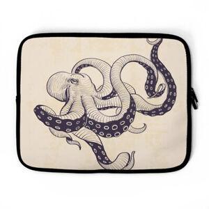 Octopus Drawing Laptop Sleeve, laptop case, Device Case , laptop bag, MacBook