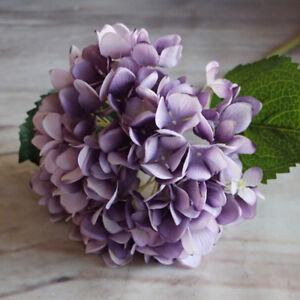 6Heads Silk Flower Artificial Wedding Bouquet Bridal Hydrangea Home Party Decor