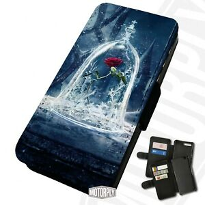 Printed Faux Leather Flip Phone Case For Huawei - Frosty-Beast-Rose