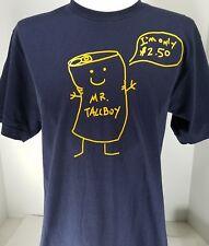 American Apparel Dirty Bill- Mr Tallboy Blue Size M TShirt Tee - Free Shipping!