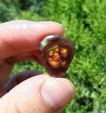 10.35 cts MEXICAN FIRE AGATE POLISHED CABOCHON 17mm (3624)