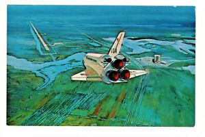 Postcard NASA Space Shuttle Orbiter Landin Kennedy Space Center Florida. E1