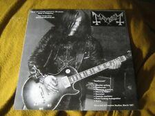 MAYHEM / MORBID split VINYL LP