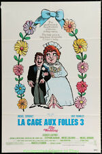 LA CAGE AUX FOLLES 3 MOVIE POSTER 1986 Original 27x41 Rolled Gay Homosexual Film