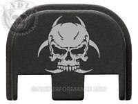 for Glock 17 19 19x 26 34 GEN 5 Rear Slide Plate NDZ Black Skull Biohazard 1