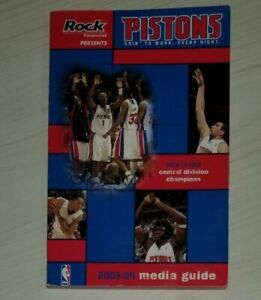 VINTAGE 2003-04 DETROIT PISTONS MEDIA GUIDE Yearbook NBA CHAMPIONSHIP
