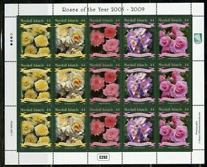 MARSHALL ISLANDS ROSES OF THE YEAR 2005/09 SCOTT #946 MINIATURE SHEET MINT NH