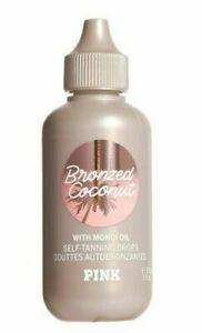 Victoria's Secret Pink Bronzed Coconut Self TANNING Drops Monoi Oil 3 0z.