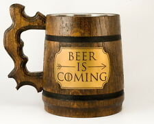 Game of Thrones gift. Beer Stein Tankard Mug. BEER IS COMING! Winter is coming.