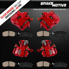 Front and Rear Red Calipers and Pads INTEGRA HONDA CIVIC COUPE SEDAN HATCHBACK