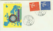 Luxemburg  FDC Ersttagsbrief 1961 Europa Mi.Nr.647+48