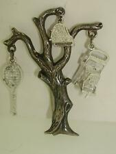 UNIQUE CONCRAFT STERLING TREE PIN W/ MOVABLE CAMERA & PIANO CHARMS!